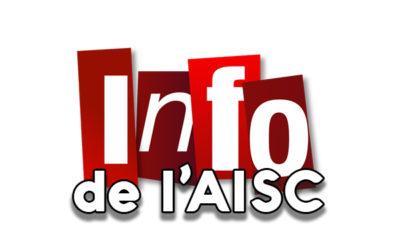 Au fil du CE : AISC, à faire avant le 30 mars !