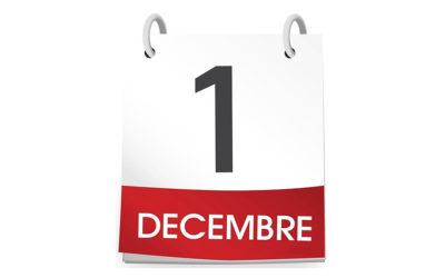 Ce qui change au 1er décembre